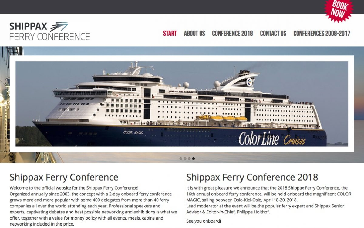 Book color line ferry - Shippax Ferry Shipping Conference Onboard April 18 20 2018 Oslo