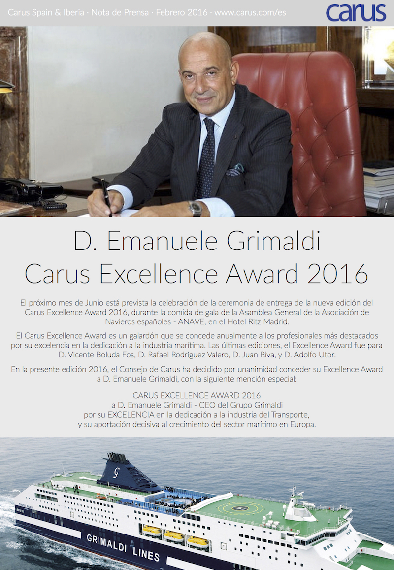 CARUS_PressRelease_EXCELLENCE2016